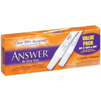 "Answer ""Be Very Sure"" Early Pregnancy Test - click for full size"